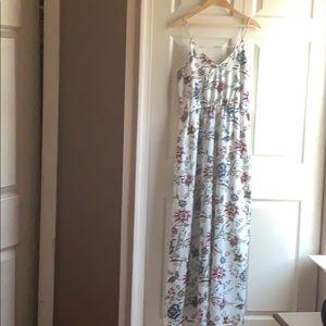 LOFT wallpaper floral maxi dress NWT